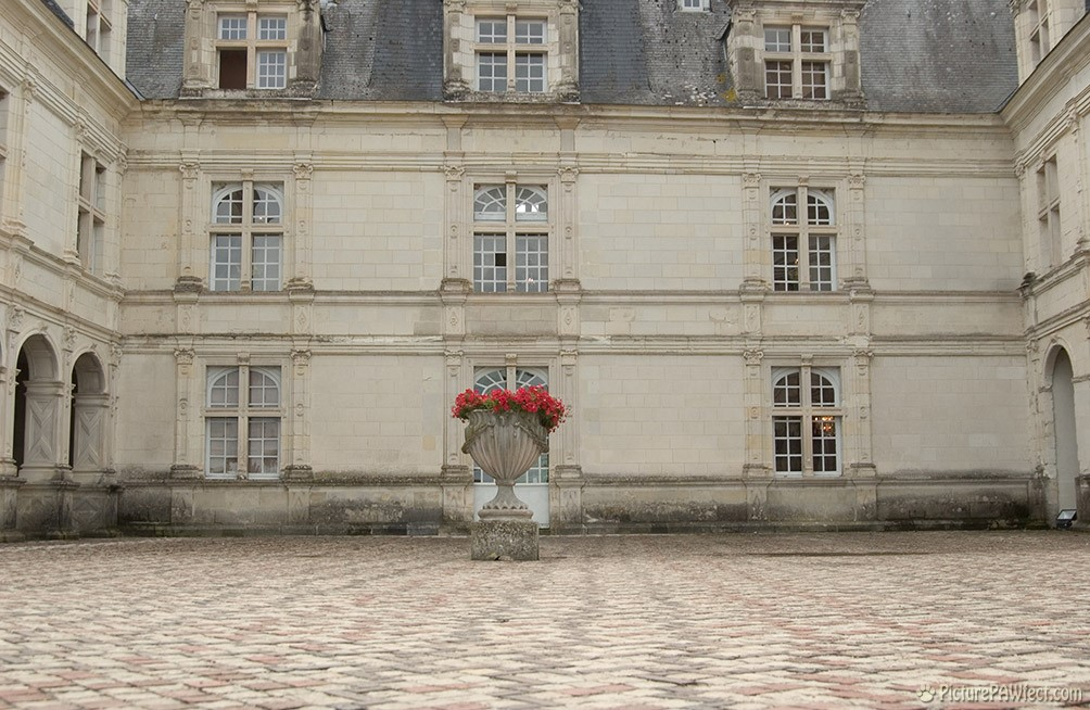 A typical french chateau Courtyard (David's France Gallery) {Chartres Cathedral}