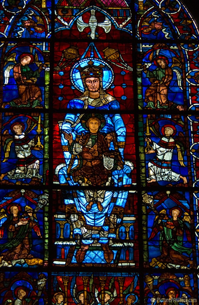 Stained glass inside (David's France Gallery) {Chartres Cathedral}
