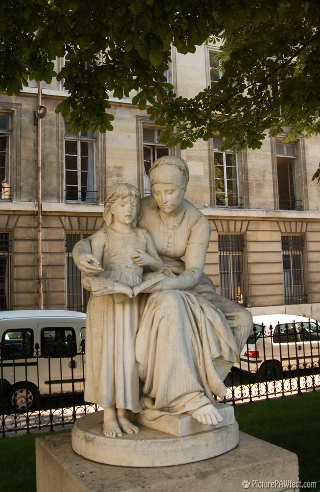 Our favorite statue is in these gardens too! (David's France Gallery) {Sainte Clotilde}