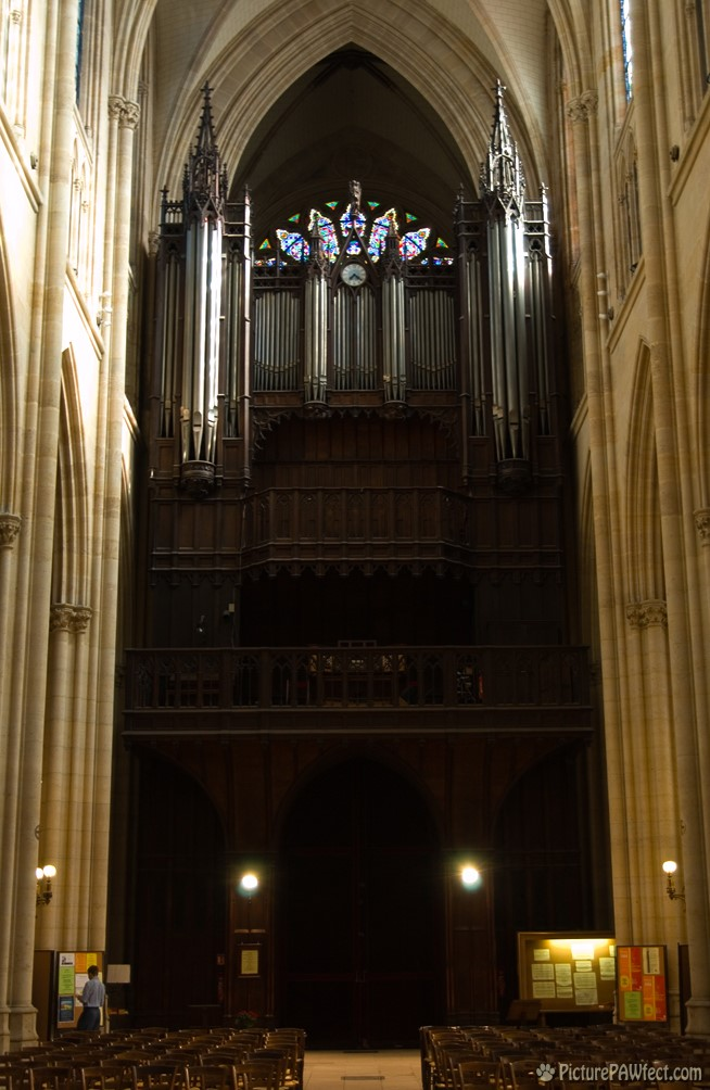 Pipe organ inside the Basilique (David's France Gallery) {Sainte Clotilde}