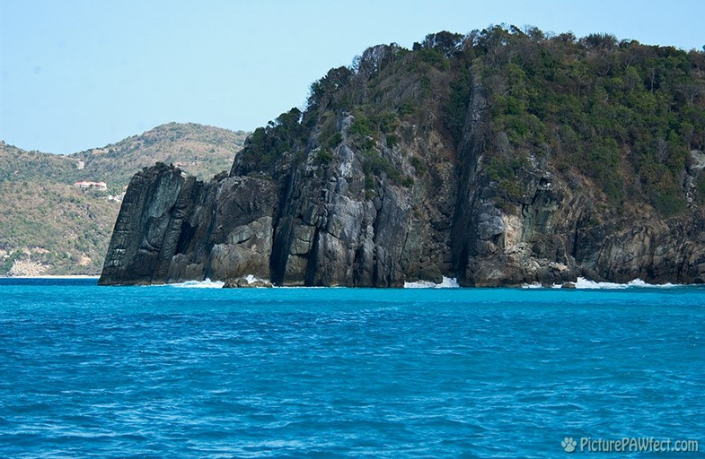 The view from the boat was quite spectacular (Sailing the British Virgin Islands)