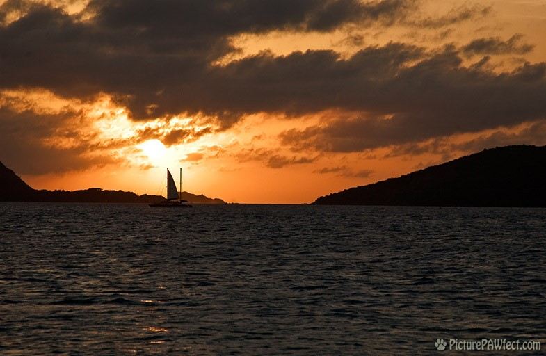 Evening begins... (Sailing the British Virgin Islands)