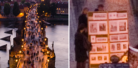 Charles Bridge (Prague) at Night Zoom